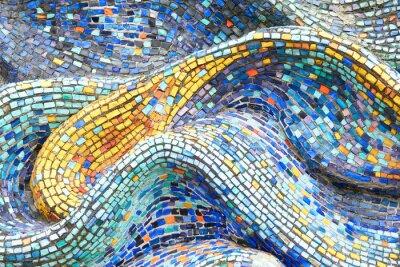 Sticker Textur Mosaik Fliesen Bunte Welle Hintergrund