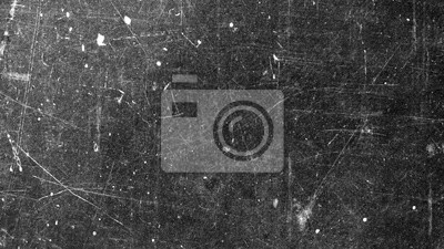 Sticker Texture of old surface on black background with white scratches