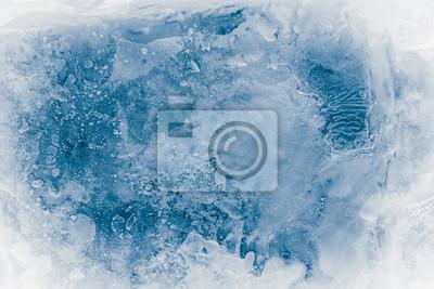 Sticker Textured ice block surface background.