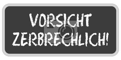 Sticker Tf Aufkleber Eckig Oc Vorsicht Zerbrechlich
