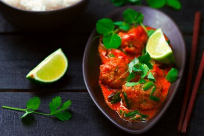 Sticker Thai hot Curry mit Fisch