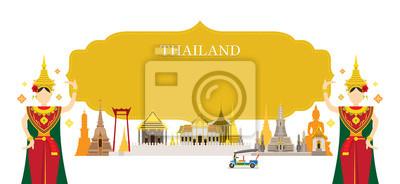 Thailand Wahrzeichen, Traditioneller Tanz, Rahmen