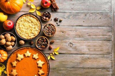 Sticker Thanksgiving autumn pies