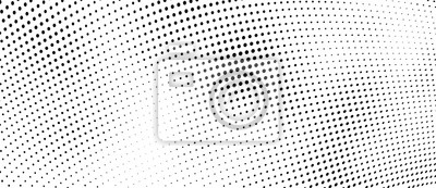 Sticker The halftone texture is monochrome. Vector chaotic background