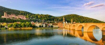 The old bridge and castle in Heidelberg, Germany
