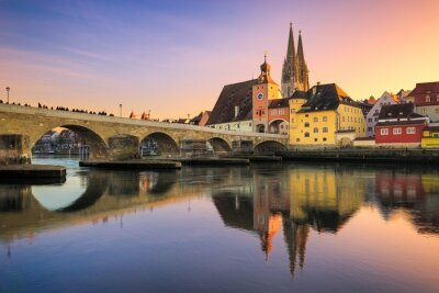 The old town of Regensburg, Germany