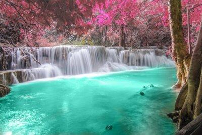 Sticker Tiefer Wald Wasserfall in Kanchanaburi