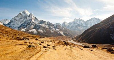 Sticker Tiefes Tal in Himalaya Berge