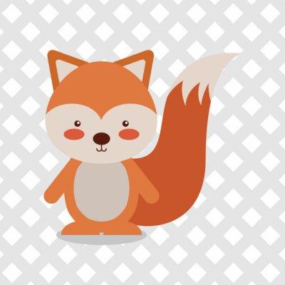 Sticker Tierkarikaturentwurf