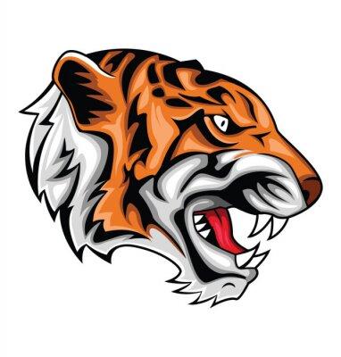 Sticker Tiger brüllen