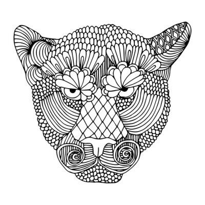 Sticker Tiger Kopf