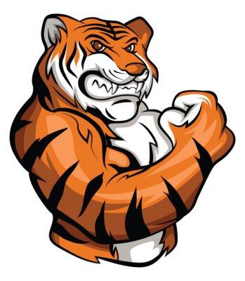 Sticker Tiger-Maskottchen