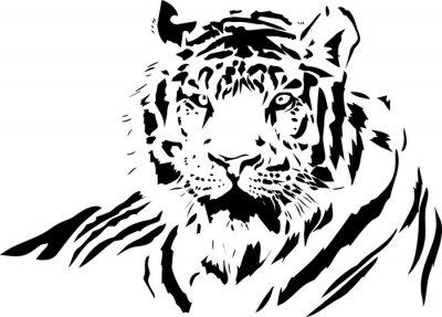 Sticker Tigergesicht