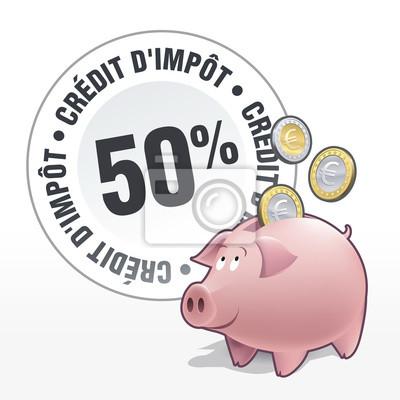 Tirelire - Economies - Crédit d'impôt