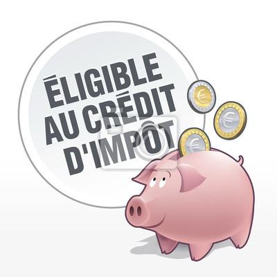 Tirelire - Economies - Geeignete au Crédit d'impôt