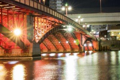 Sticker Tokyo-Nachtbrücke