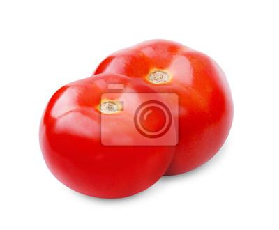 Tomaten auf weißem