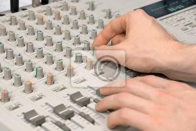 Sticker Tontechniker beim Abmischen