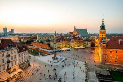 Sticker Top Blick auf die Altstadt in Warschau