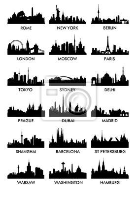 Top Stadtsilhouette Vektor