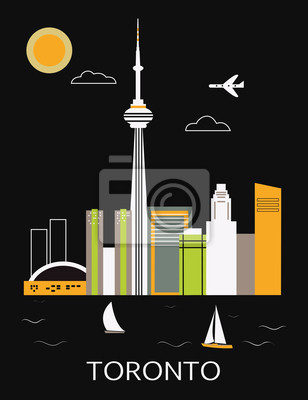 Toronto Stadt. Vector
