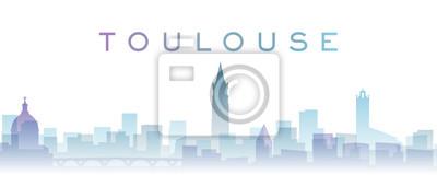 Toulouse Transparent Layers Gradient Landmarks Skyline