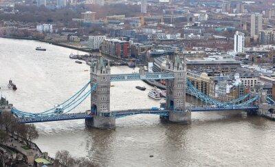 Sticker Tower Bridge auf der Themse in London