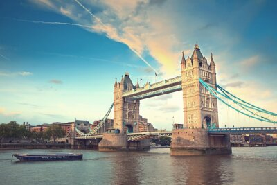 Sticker Tower Bridge bei Sonnenuntergang, London