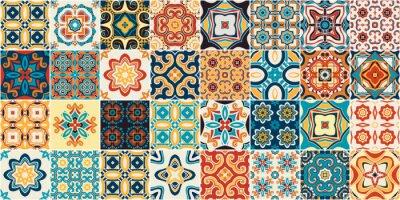 Sticker Traditional ornate portuguese decorative tiles azulejos.