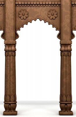 Sticker Traditionelle indische Column Arc