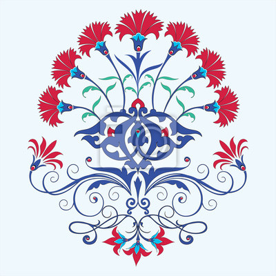 traditionellen osmanischen Nelke Maschine Design