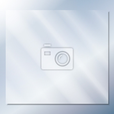 Sticker transparent glass on a blue background vector