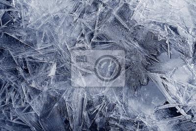 Sticker Transparente Eiskristalle Textur geknackt Hintergrund