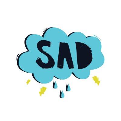 Traurig. Farbe inspirierend Vektor-Illustration