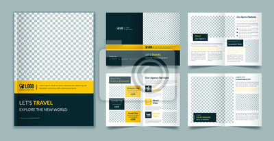 Sticker Travel 8 page brochure template