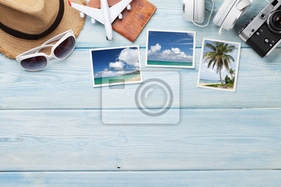 Sticker Travel vacation background concept