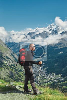 Trek in der Nähe von Matterhorn Mount.
