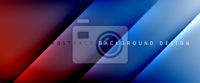 Sticker Trendy simple fluid color gradient abstract background with dynamic straight shadow line effect. Vector Illustration For Wallpaper, Banner, Background, Card, Book Illustration, landing page