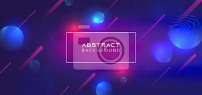 Sticker Trendy wallpaper background with liquid modern digital fluid shapes. Eps 10 vector neon trendy design abstract.