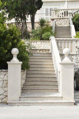 Sticker Treppen auf der Insel Korcula, Kroatien