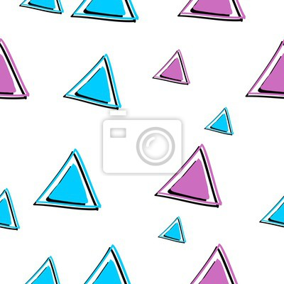 Triangle seamless pattern drawing background