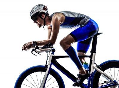 Sticker Triathlon-Eisen-Mann-Athleten-Radfahrer Radfahren