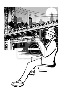 Trompeter in New York (Brooklyn)