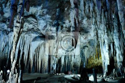 Tropfsteinwand in Kao Bin Höhlen, Ratchaburi, Thailand