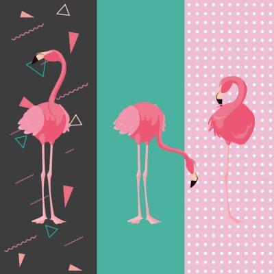 Sticker tropical flamingo design