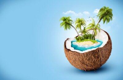Sticker tropischen Insel