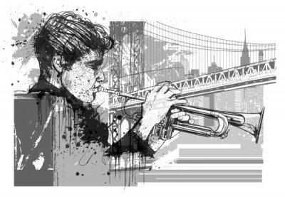 Sticker Trumpet player in New York (Brooklyn)