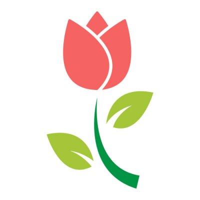 Sticker tulip flower icon vector