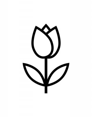 Sticker Tulpe Blume Symbol