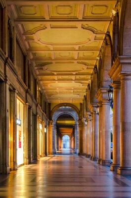 Sticker Turin (Torino), typische Arkaden in der historischen Altstadt